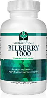 Bilberry Extract 1000mg - Premium Eye Support - Supports Healthy Circulation - Helps With Red Eyes, Irritation - Top Quality Natural Bilberry Powder Capsules
