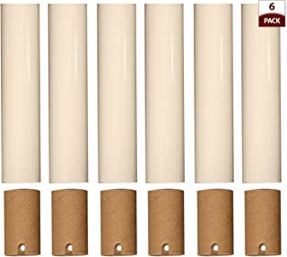 Royal Designs Chandelier Socket Covers - Paper Insulation - Cream - 4 in - Set of 6