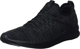 PUMA Men's Ignite Flash Evoknit Blk Shoes, Black, 10.5 US
