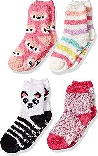 Amazon Essentials Girl's 4-Pack Slipper Socks