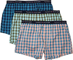 Navy Plaid/Four Leaf Clover Plaid/Lobster Bisque/Faience Plaid