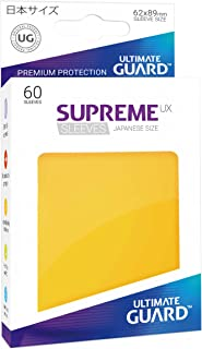 Ultimate Guard Supreme Japanese UX Card Sleeves (60 Piece), Yellow