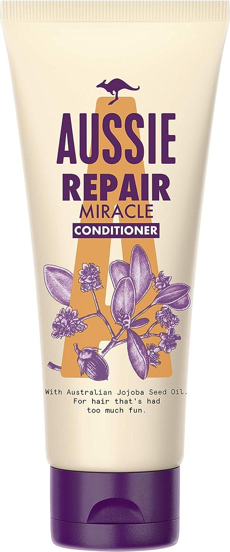 Aussie Repair Miracle Acondicionador 200 ml, Acondicionador Reparación, Para El Pelo Que Se Lo Ha Pasado Bomba