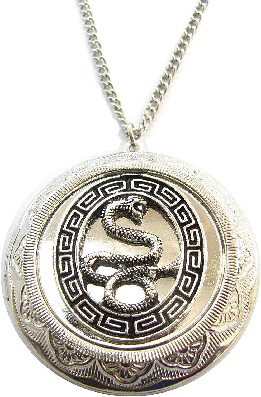 Snake Locket necklace - snake lovers - snake gift personalized - jewel - animal lovers snake