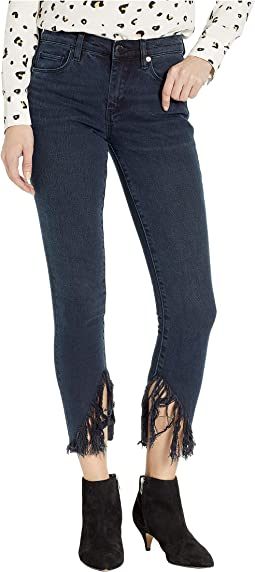 Skinny with Raw Hem Fringe Detail in Vixen