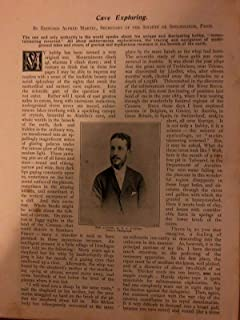 1898 Edouard Alfred Martel Cave Exploring Speleology Padirac Roche Percee