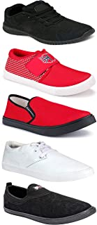 WORLD WEAR FOOTWEAR Sports Running Shoes/Casual/Sneakers/Loafers Shoes for MenMulticolors (Combo-(5)-1219-1221-1140-749-1074)