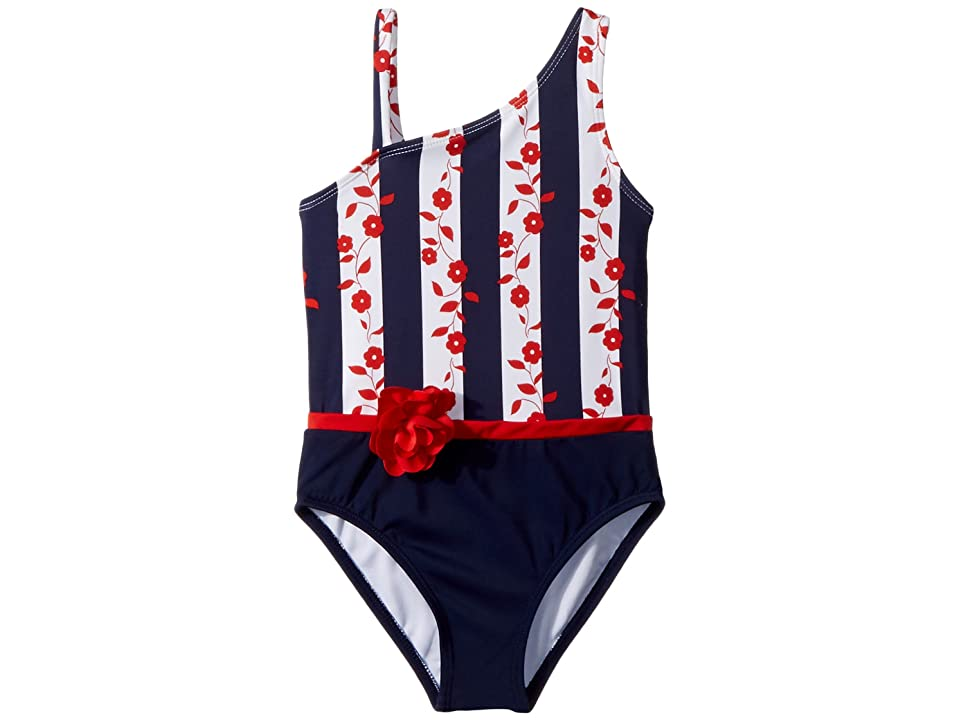 Janie and Jack Colorblocked One-Piece Swimsuit (Toddler/Little Kids/Big Kids) (Multicolor) Girl