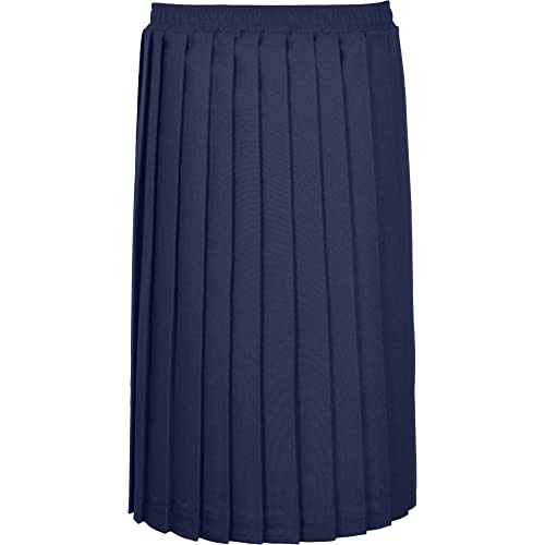 15fbbe4cd0 Womens Plain Pleated Ladies Classic Straight Fit Elasticated Waistband 27