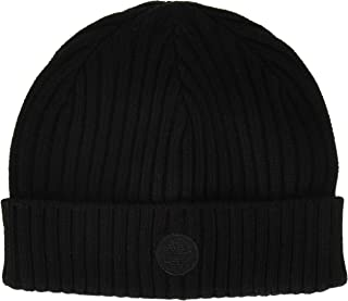 Men's Ribbed Watch Cap with Logo Patch