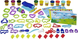 Play-Doh Preschool Fundamentals Box - inc 10 Tubs of Dough & 50+ Acc - Creative Kids Toys - Ages 3+