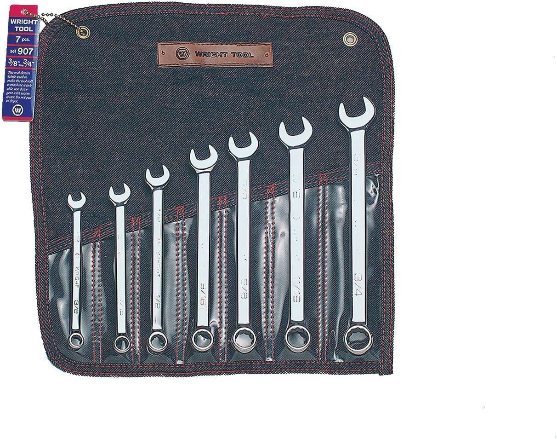 Wright Tool 907 Charlotte Mall Full Polish 12 Set Wrench 8