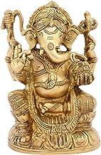 Brass Handcrafted Lord Ganesha/God Ganeshji/Ganpati Murti/Ganpati Bappa Statue/Ganesh Idol Sitting Small Spiritual Religio...