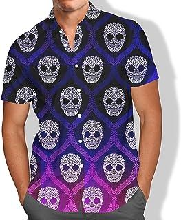 Camisa Praia Masculina Caveira Mexicana Florida Moda