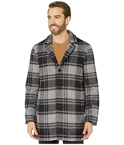 John Varvatos Star U.S.A. Carsen Car Coat in Plaid Wool Blend O1848V3B (Black Multi) Men