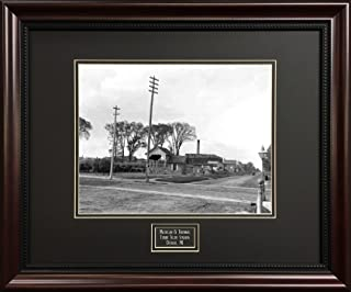 Deluxe Black and White Detroit Print - Michigan And Trumball Future Site Tiger Stadium - Framed Vintage Photograph
