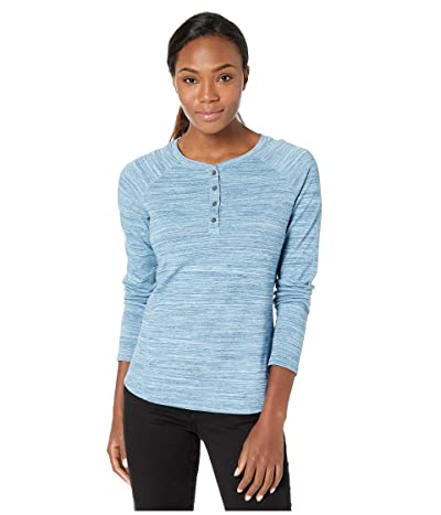 ExOfficio BugsAway(r) Novais Henley Long Sleeve Shirt (Atlantic Heather) Women