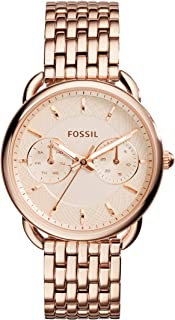Fossil Women's Tailor Quartz Stainless Steel Dress Watch, Color: Rose Gold-Tone (Model: ES3713)