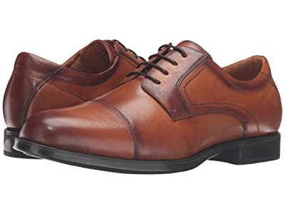 Florsheim Midtown Cap Toe Oxford (Cognac Smooth) Men