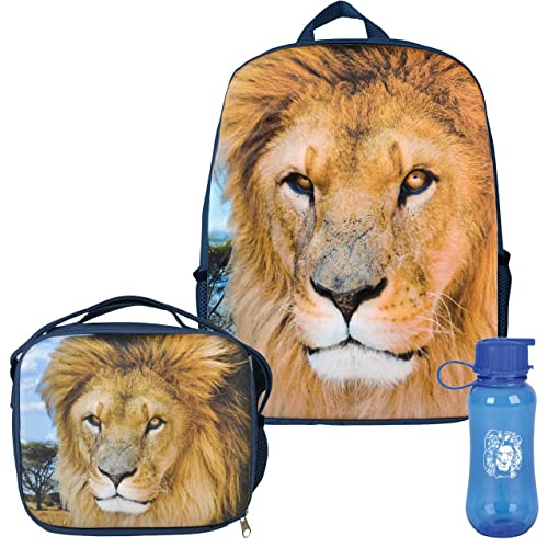 fbeb7a6ae0 3D African King Lion Backpack