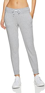 Calvin Klein Women's Embroidered Logo Terry Track Pant with Stepped Hem