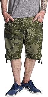 G-Star Men's Rovic Dc Loose Men's Khaki Cargo Shorts With Print in Size 32 Green
