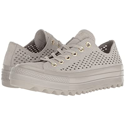 Converse Chuck Taylor(r) All Star(r) Lift Ripple Ox (Pale Grey/Pale Grey/Pale Grey) Women
