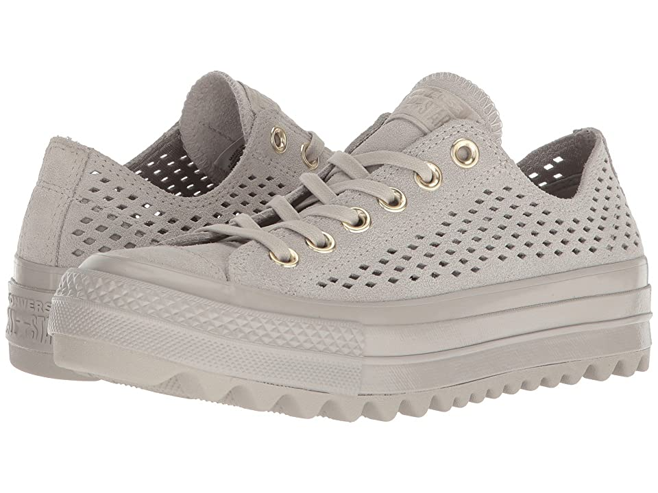 Converse Chuck Taylor(r) All Star(r) Lift Ripple Ox (Pale Grey/Pale Grey/Pale Grey) Women