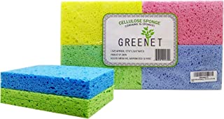 Cleaning Sponges Bulk Sponges, 16 Pack+ 2 Free Heavy Duty Scouring Pads, Sponges Bathroom Sponge Kitchen, Cleaning Sponge 100% Natural Cellulose For Kitchen Sponges 5.9 x 3.15 x 0.47 Inches by Greenet