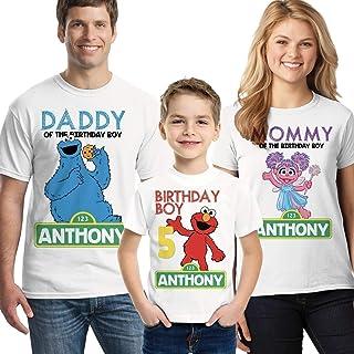 Sesame Street birthday shirt, Elmo Family Birthday Shirts choose any character for each shirt