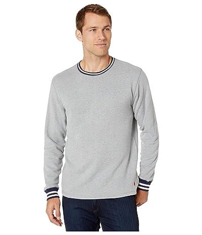 Polo Ralph Lauren Brushed Fleece Long Sleeve Crew (Andover Heather/Cruise Navy/Crescent Cream Tipping/Eaton Red) Men