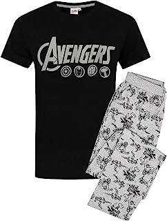 MARVEL The Avengers Men's Pyjamas Logo Lounge Pants & T-Shirt Set