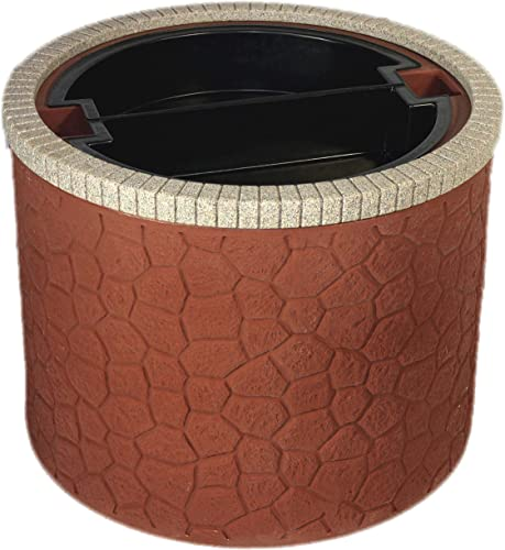 new arrival TankTop Covers Decorative 35-Inch Basin Planter - Septic, Well, Lawn and Garden Enclosure with 5-Inch Deep 2021 online Planter Insert - Brick online