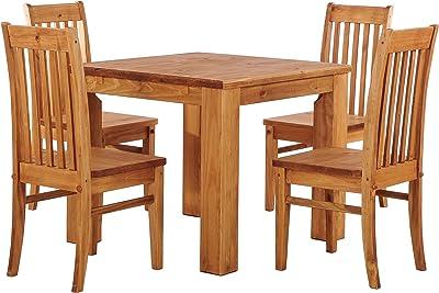 Sitzgruppe Garnitur mit Esstisch Holz Pinie massiv Tisch