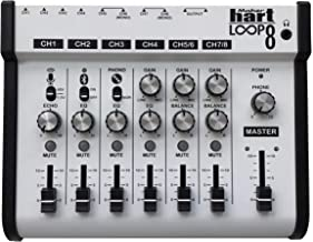 Maker hart Loop Mixer 8 3.5mm/6.3mm JACK/Bluetooth/Phono EQ Pre-amplify/microphone Compatibility/audio mixer