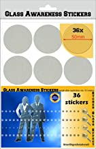Glass Awareness Stickers 50mm CIRCLES Dots Etched Effect Frosted Film Patio Doors Shops Office Public Areas