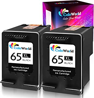 65XL Remanufactured Black Ink Cartridge 2-Pack Replacement for HP 65 XL Used with DeskJet 2630 2620 2652 3752 3758 3755 26...