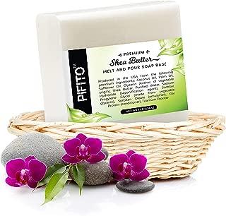 Pifito Shea Butter Melt and Pour Soap Base (5 lb) │ Bulk Premium 100% Natural Glycerin Soap Base │ Luxurious Soap Making Supplies