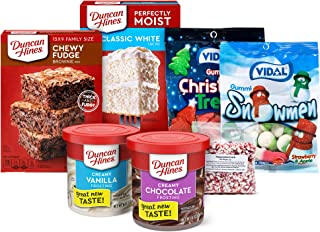 Sponsored Ad - Duncan Hines Holiday Baking Kit With Cake Mix, Brownie Mix, Frostings and Assorted Holiday Candy