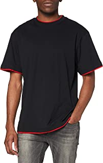 Urban Classics Bekleidung Contrast Tall tee Camiseta para Hombre