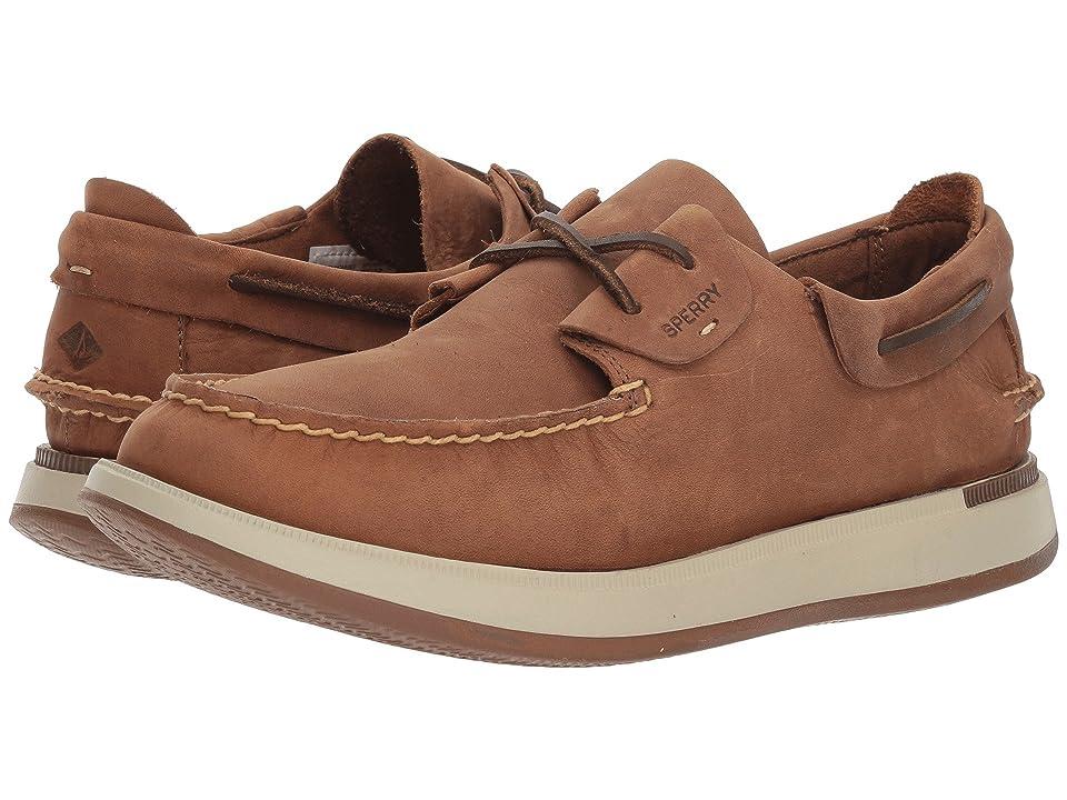 Sperry Caspian Boat Leather (Tan) Men