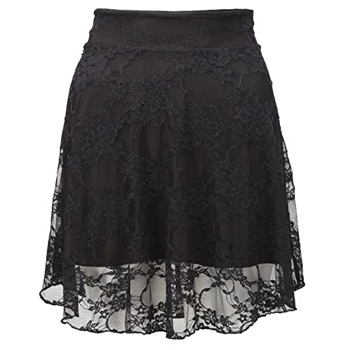 c362371925 New Ladies Plus Size Floral Lace Skater Skirt Womens Flare Mini Skirt