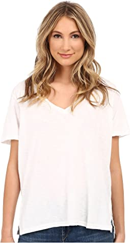 Supima® Cotton Slub V-Neck