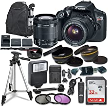 $439 Get Canon EOS Rebel T6 Digital SLR Camera with Canon EF-S 18-55mm Image Stabilization II Lens, Sandisk 32GB SDHC Memory Cards, Accessory Bundle