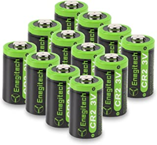 Enegitech CR2 Battery 3V Lithium 800mAh 12 Pack with PTC Protection DL-CR2 for Golf..