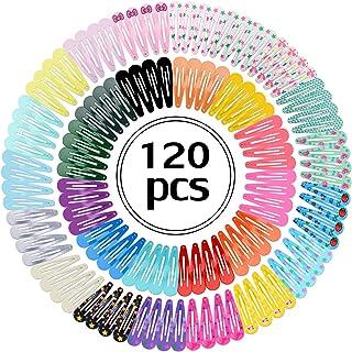 Outgeek 120PCS Hair Clip Set Multipurpose Snap Hair Clip Snap Barrette for Kids Girls (multicolor) (multicolor)