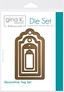 Gina K. Designs for Therm O Web 4 Nested Decorative Tag Dies