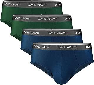 Men's 4 Pack Bamboo Rayon Ultra Soft Comfort Lightweight Pouch Briefs