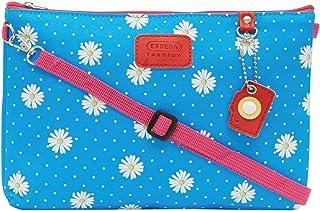ESBEDA Light Blue Color Floral Print Nylon Material Slingbag For Women