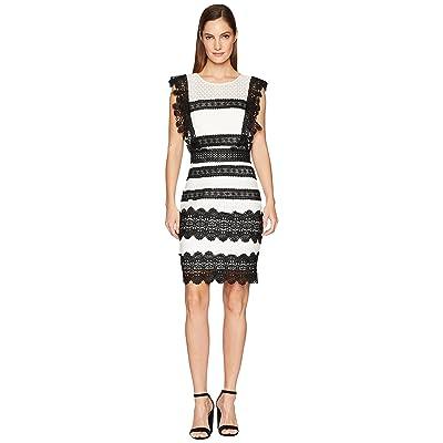 Nicole Miller Mini Dress (Black/Ivory) Women